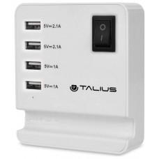 Cargador 4USB pared con cable TALIUS CHA-4003 BLAN (Espera 3 dias)
