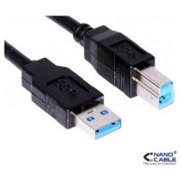 CABLE USB 3.0 IMPRESORA TIPO A/M-B/M NEGRO 1.0 M