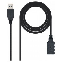 CABLE USB 3.0 TIPO A/M-A/H NEGRO 1.0 M NANOCABLE