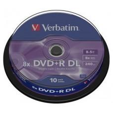 VERBATIM DVD+R DOBLE CAPA 8.5GB 8X BOBINA 10 ADVANCED (Espera 3 dias)