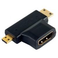 Adaptador HDMI a MiniHDMI+MicroHDMI