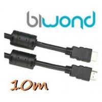 Cable HDMI 10m BIWOND V1.4 Ferrita