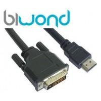 Cable DVI 24+1 a HDMI 1.8m Biwond