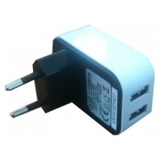 ALIMENTADOR USB DE HOGAR 2 PUERTOS 4A 3GO