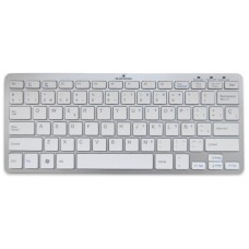Bluestork BS-KB-MICRO/BT/SP Bluetooth QWERTY Español Plata, Color blanco teclado