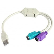 Adaptador cable  3GO USB-PS2 (Espera 4 dias)