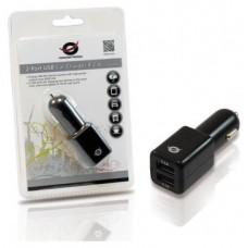 CARGADOR CONCEPTRONIC 5V 2x USB  PARA COCHE 12/24V