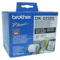 ETIQUETAS BROTHER DK22205 C.PAPEL CONTI.BLANCA62MM
