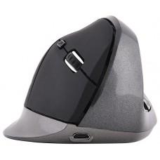 Bluestork M-WL-ERGO-BK RF inalámbrico 1200DPI mano derecha Negro, Gris ratón