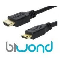 HDMI A MINI HDMI 1M BIWOND V1.4, A/M-C/M