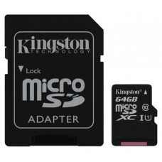 KINGSTON 64GB MICROSDXC CANVAS SELECT 80R CL10 UHS-I CARD +