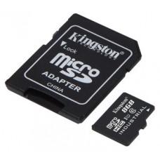 Kingston microSDHC 8GB UHS-I Clase 10 + Adaptador SDSDCIT/8GB